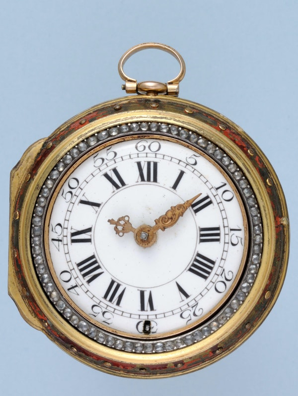 GOLD AND ENAMEL TRIPLE CASED VERGE POCKET WATCH - image 6
