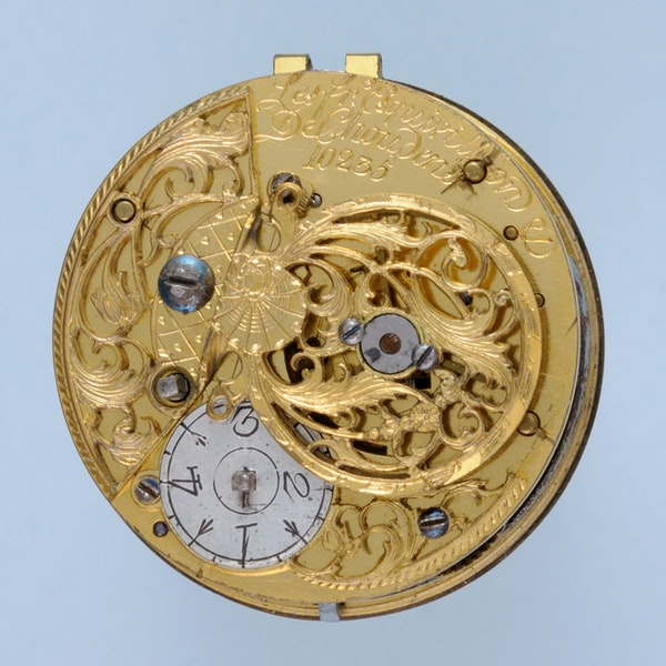 GOLD AND ENAMEL TRIPLE CASED VERGE POCKET WATCH - image 3