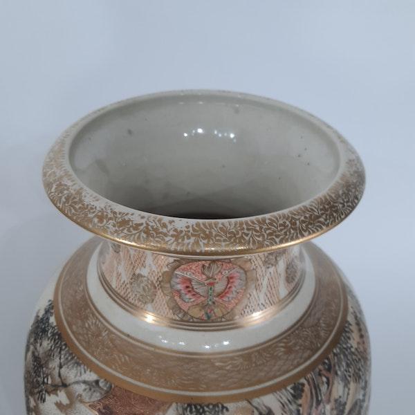 Pair Japanese Satsuma vases with decoration of Samurai - image 5