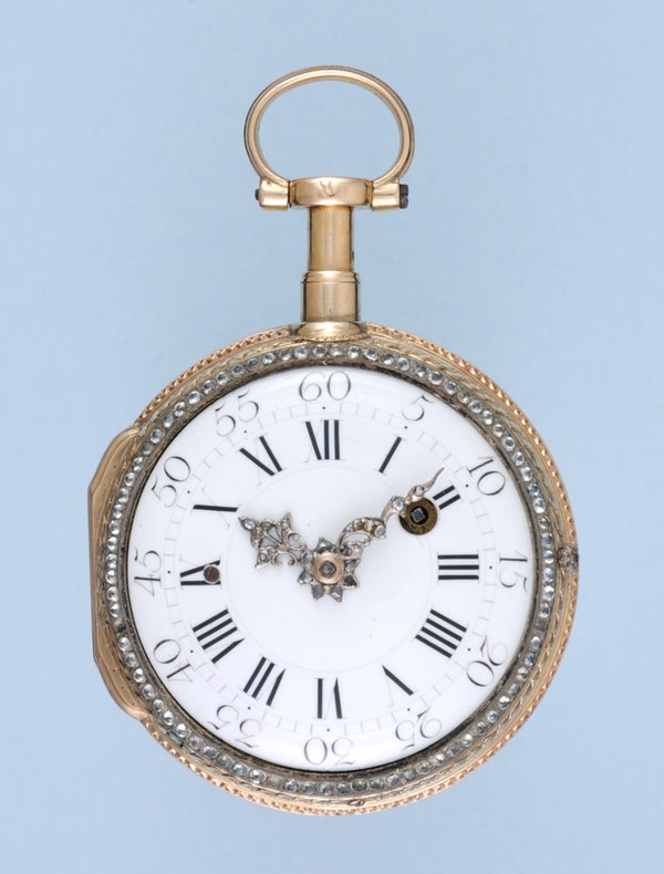 DECORATIVE GOLD FRENCH REPEATING POCKET WATCH - image 3
