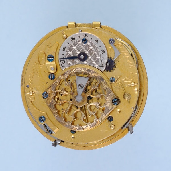 DECORATIVE GOLD FRENCH REPEATING POCKET WATCH - image 2
