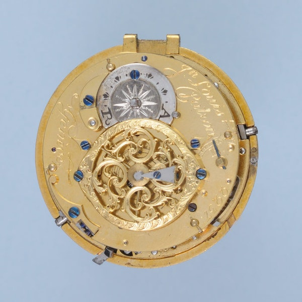GOLD QUARTER REPEATING SWISS VERGE POCKET WATCH - image 2