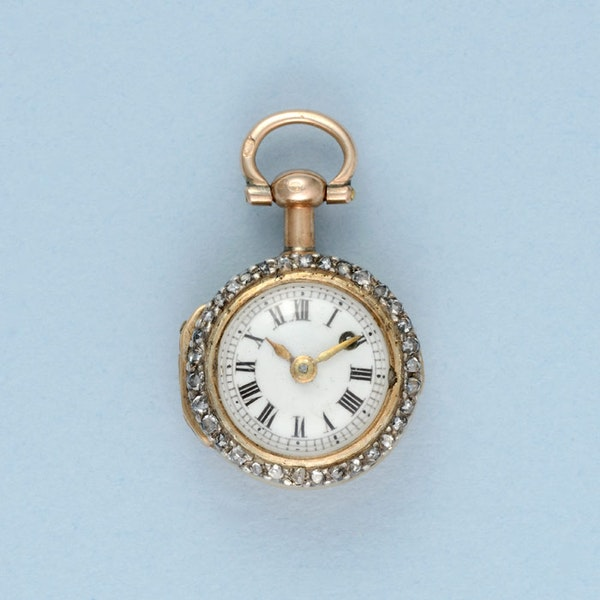GOLD WATCH AND DIAMOND SET RING MOUNT - image 6