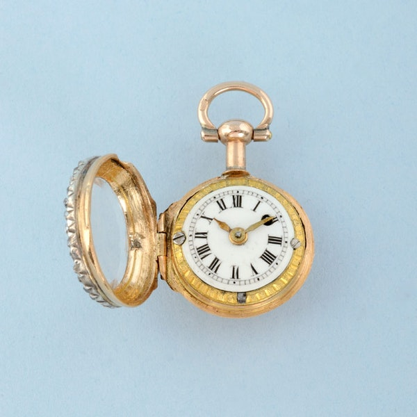 GOLD WATCH AND DIAMOND SET RING MOUNT - image 12