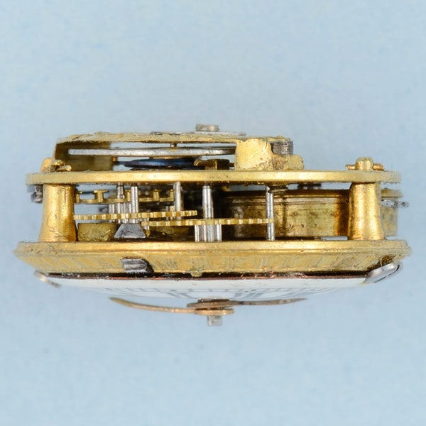 GOLD WATCH AND DIAMOND SET RING MOUNT - image 3
