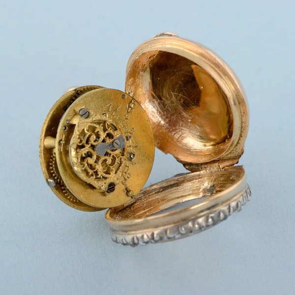 GOLD WATCH AND DIAMOND SET RING MOUNT - image 5