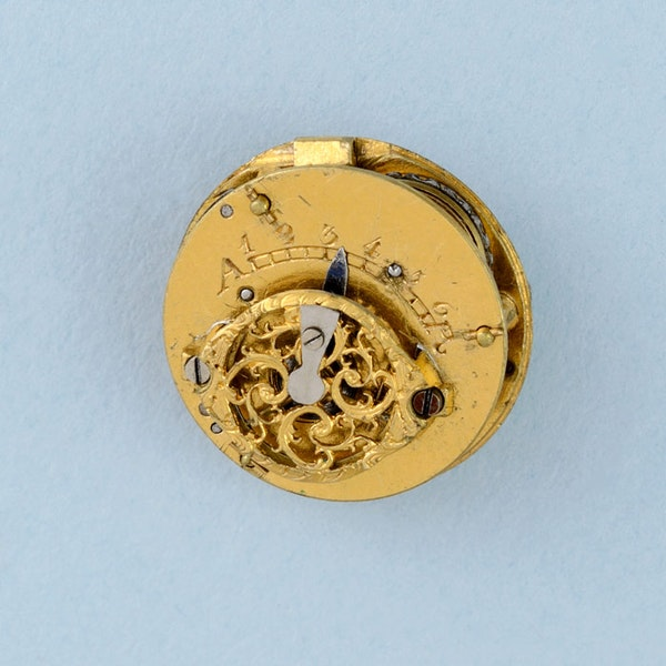 GOLD WATCH AND DIAMOND SET RING MOUNT - image 4