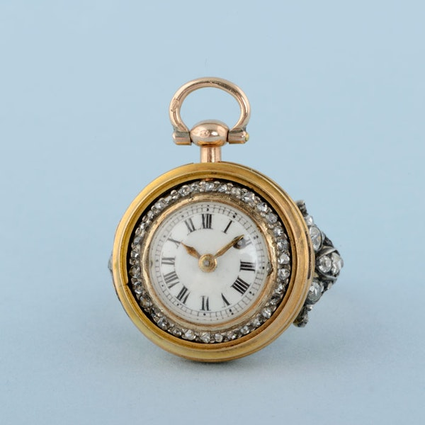 GOLD WATCH AND DIAMOND SET RING MOUNT - image 10