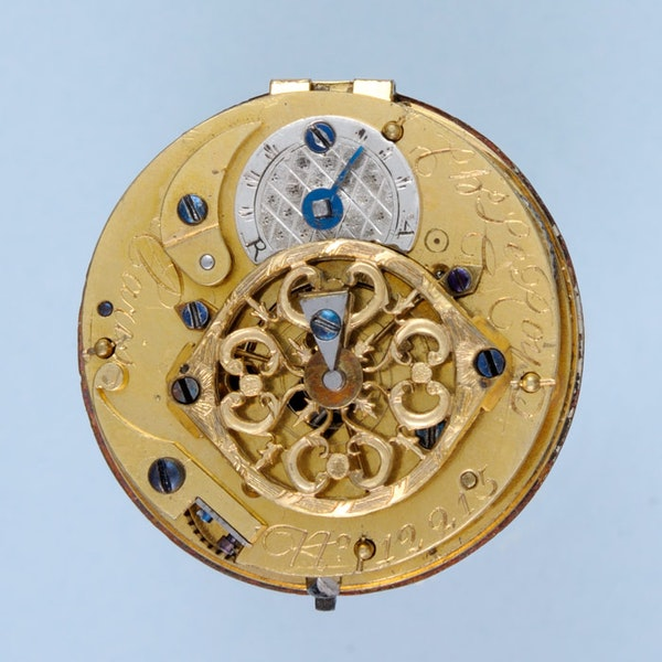 THREE COLOUR GOLD FRENCH VERGE POCKET WATCH - image 2