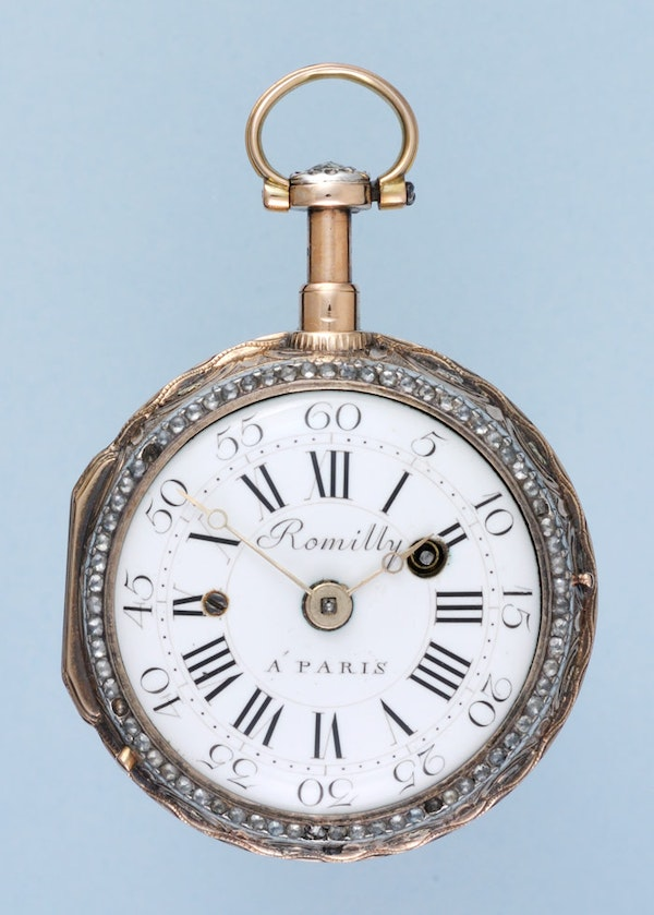 GOLD AND ENAMEL QUARTER REPEATING POCKET WATCH - image 2