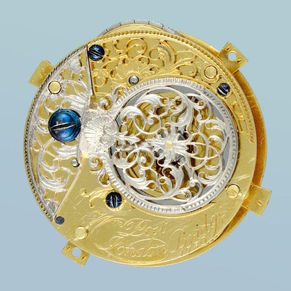 UNUSUAL ENGLISH GOLD AND ENAMEL CHATELAINE - image 3