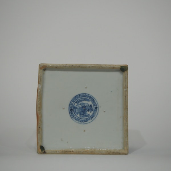 Pair Chinese blue and white tea jars - image 2