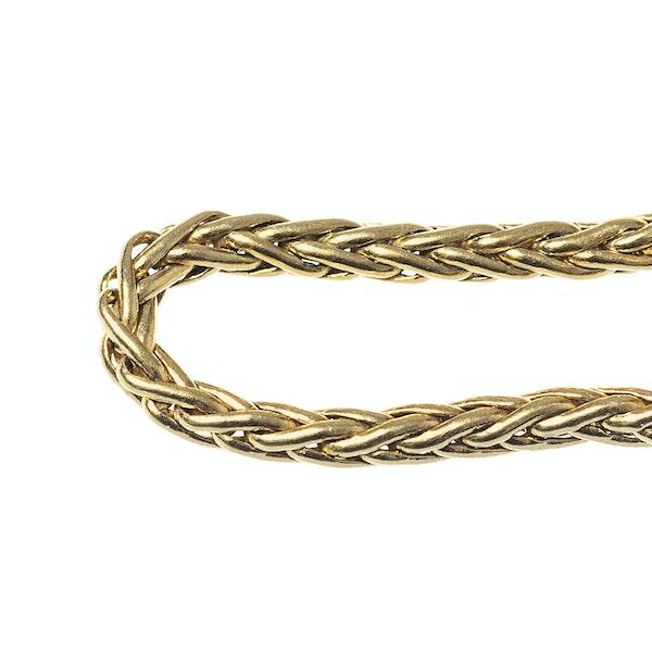 Vintage Boucheron Woven Chain Cufflinks in 18 Karat Gold, French circa 1950. - image 5