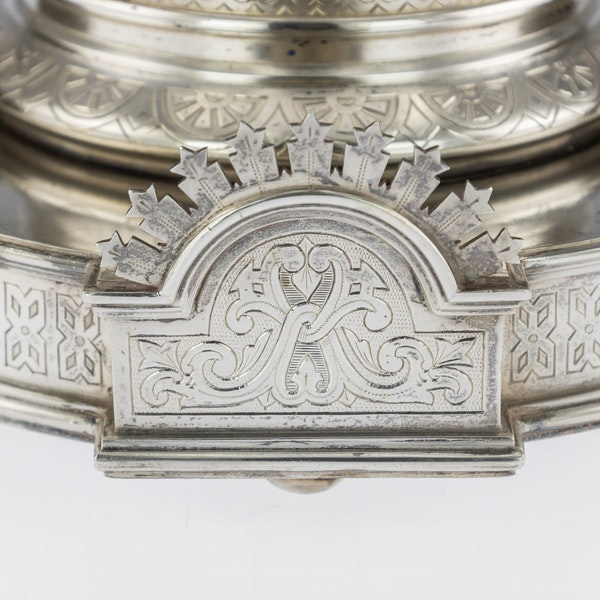 Russian Silver Tazza in Pan-Slavic Style, by Khlebnikov, Moscow, 1888 - image 3