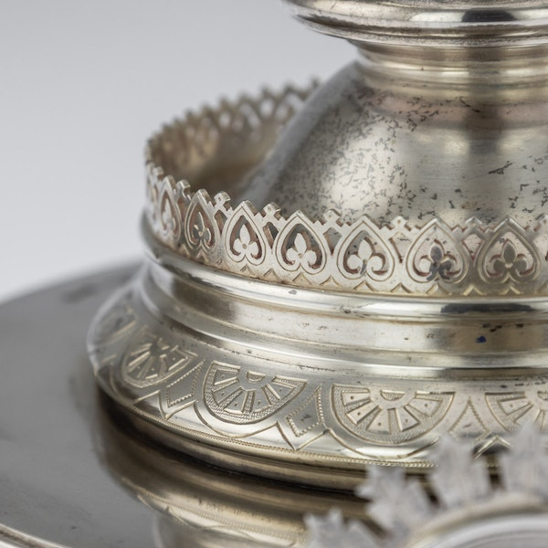 Russian Silver Tazza in Pan-Slavic Style, by Khlebnikov, Moscow, 1888 - image 4
