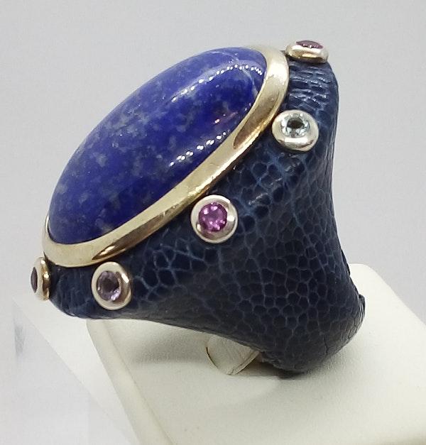 Large Lapis Lazuli Ring - image 2