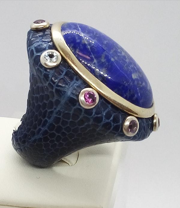 Large Lapis Lazuli Ring - image 3