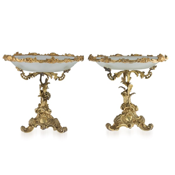 Russian Silver Gilt pair of Tazzas, St. Petersburg 1867 by Sazikov - image 3