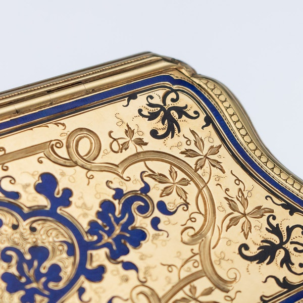 Continental gold, enamel case, Russian import marks c.1900 - image 8