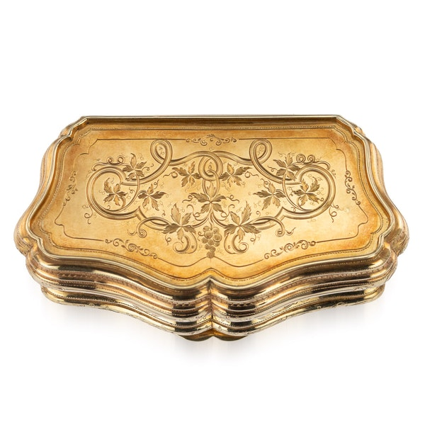 Continental gold, enamel case, Russian import marks c.1900 - image 2