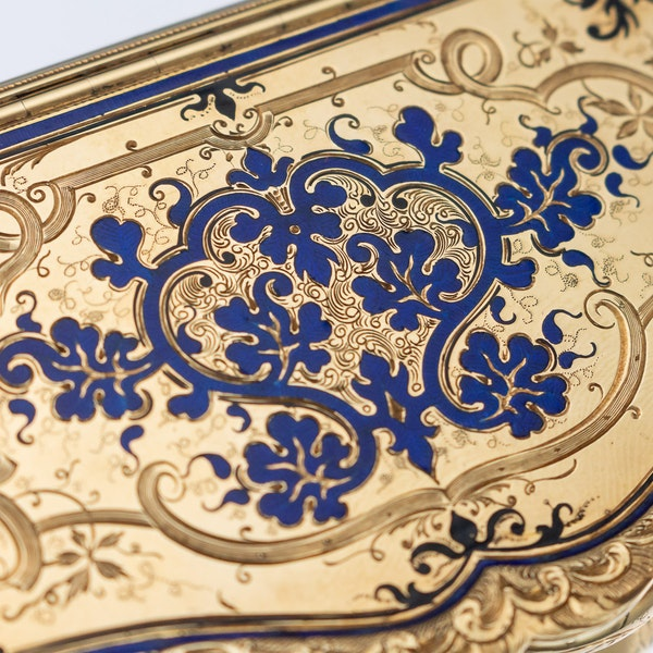 Continental gold, enamel case, Russian import marks c.1900 - image 7