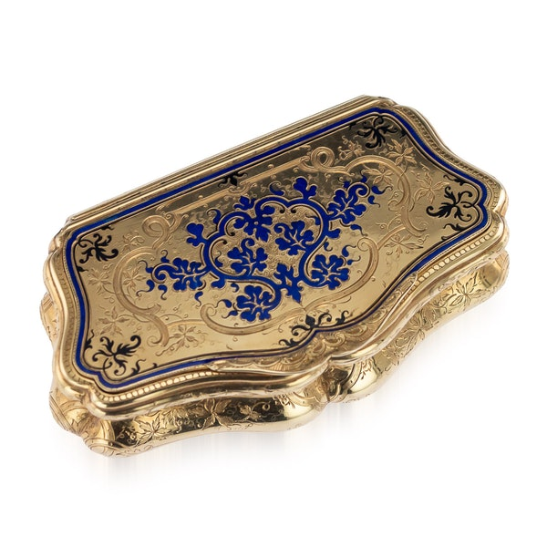 Continental gold, enamel case, Russian import marks c.1900 - image 3