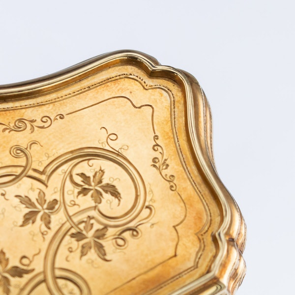 Continental gold, enamel case, Russian import marks c.1900 - image 9