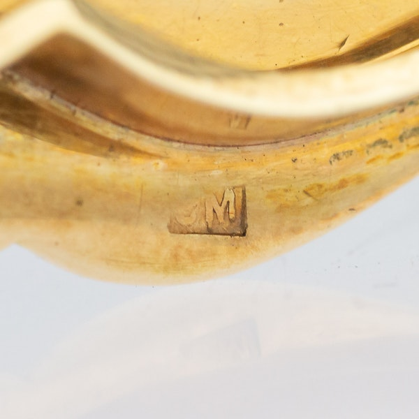 Continental gold, enamel case, Russian import marks c.1900 - image 15