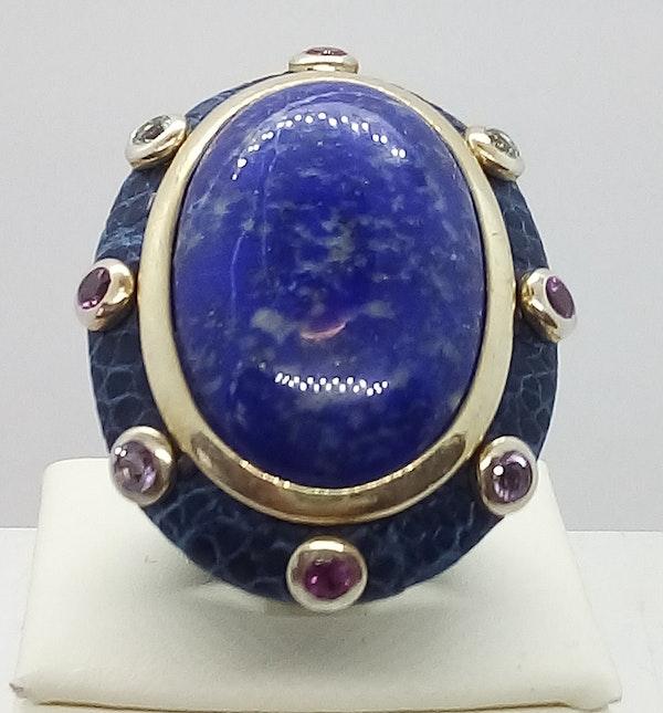 Large Lapis Lazuli Ring - image 4