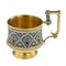 Russian Silver Gilt and Cloisonné Enamel Cup & Saucer, Moscow c.1880 - image 5