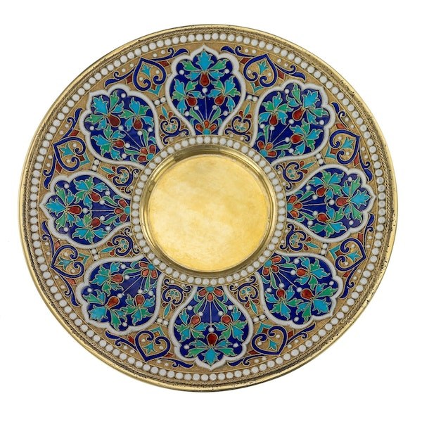 Russian Silver Gilt and Cloisonné Enamel Cup & Saucer, Moscow c.1880 - image 2