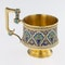 Russian Silver Gilt and Cloisonné Enamel Cup & Saucer, Moscow c.1880 - image 4