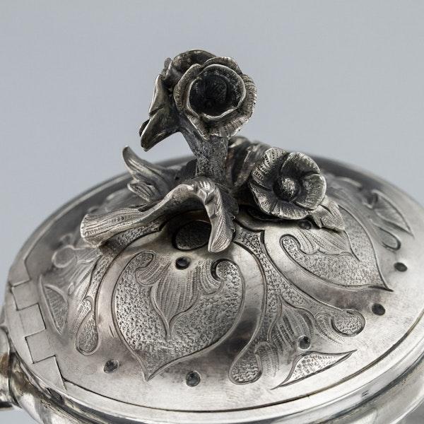 Russian Silver 3 Piece Tea & Coffee Set, St. Petersburg 1856 - image 3