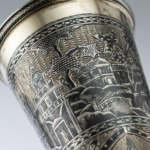 Russian Silver Gilt Niello Flute c. 1820, Moscow - image 3