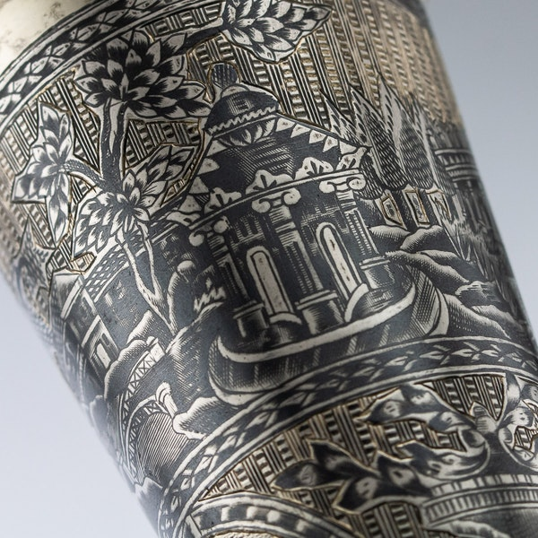 Russian Silver Gilt Niello Flute c. 1820, Moscow - image 5