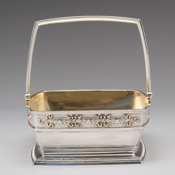 Faberge Russian Silver Basket, Moscow 1894 - image 6