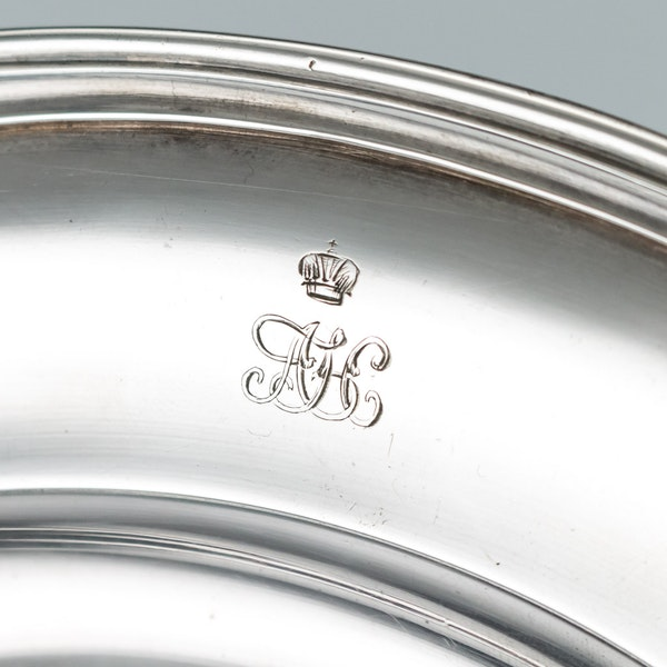 Pair of Silver Plates by Nicholas and Plinke 1843 for Grand Duke Alexander Nikolaevich, later Tsar Alexander The Second - image 9