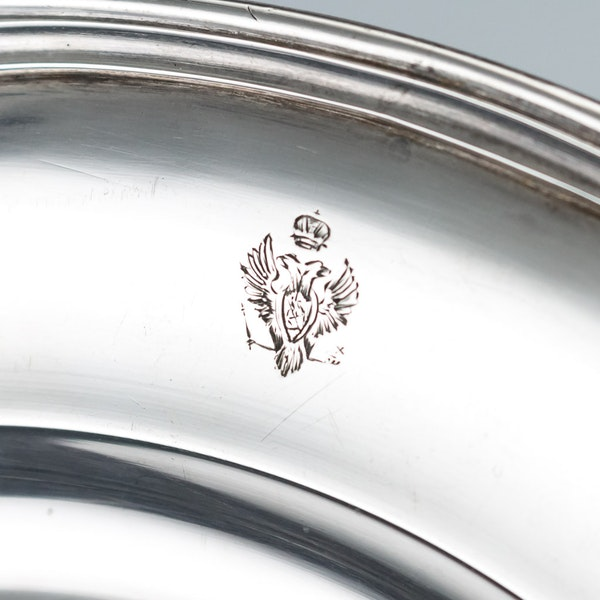 Pair of Silver Plates by Nicholas and Plinke 1843 for Grand Duke Alexander Nikolaevich, later Tsar Alexander The Second - image 10