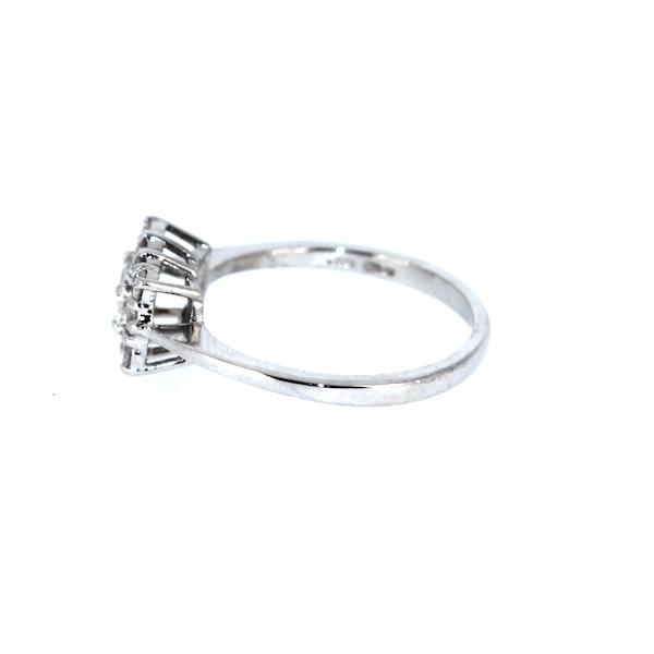 Emerald Cut Diamond Cluster Ring. S.Greenstein - image 2