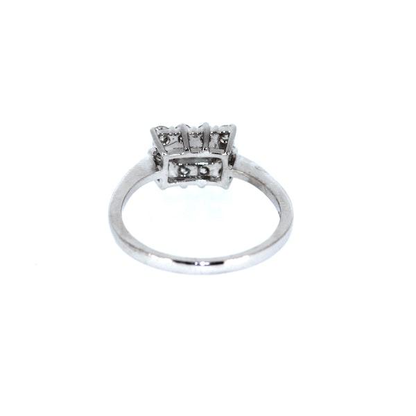 Emerald Cut Diamond Cluster Ring. S.Greenstein - image 3