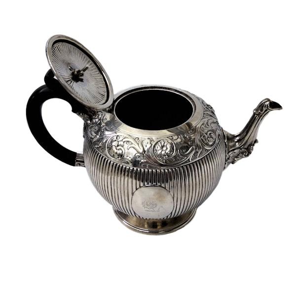 Victorian Sterling Silver Three-Piece Tea Set, English c.1880 - image 9