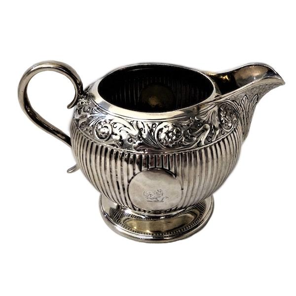 Victorian Sterling Silver Three-Piece Tea Set, English c.1880 - image 3