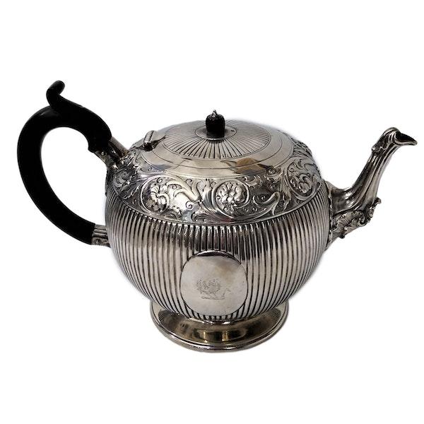 Victorian Sterling Silver Three-Piece Tea Set, English c.1880 - image 8