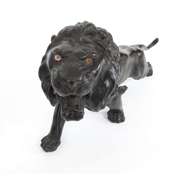Japanese bronze lion - image 9