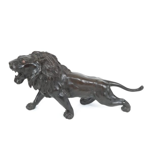 Japanese bronze lion - image 8