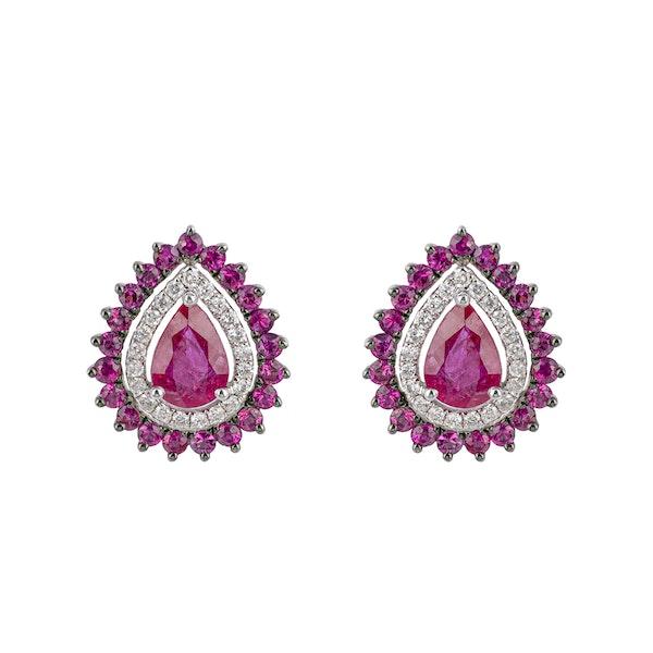 Droplets, pear shaped earrings - image 2
