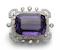 Edwardian Amethyst And Diamond Brooch Pendant - image 1