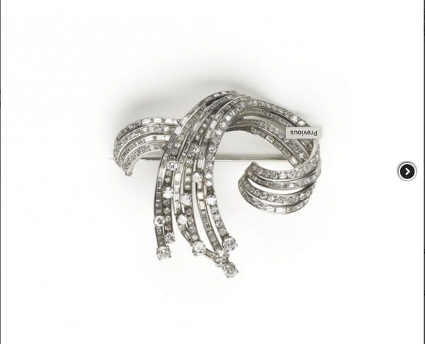 Diamond Spray Brooch - image 1