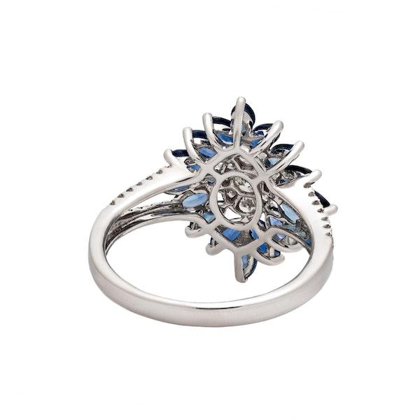 Art Deco style sapphire ring - image 3