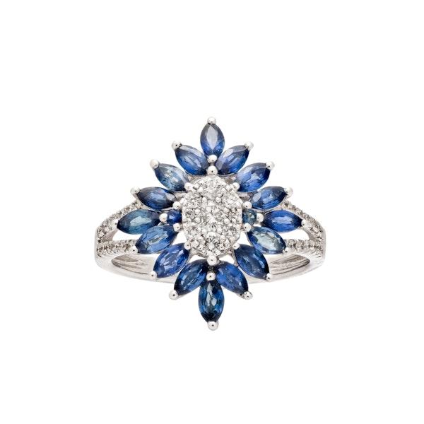 Art Deco style sapphire ring - image 2